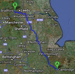 Same Day Courier from Cambridge to Bradford