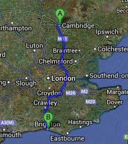 Same Day Courier Cambridge to Brighton